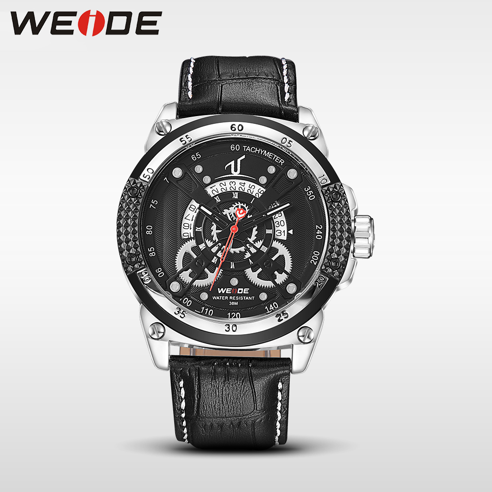 WEIDE WH1605 leather sport quartz watches men water resistant mehanical hand wind analog automatic self-wind luxury clock role weide wh 1008 men s quartz