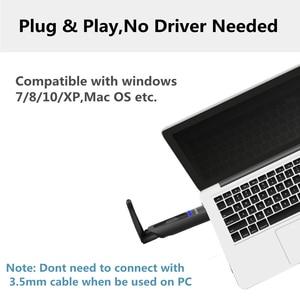 Image 4 - AptX השהיה נמוכה Bluetooth 5.0 אודיו משדר 3.5mm AUX שקע/RCA USB אלחוטי מתאם עבור טלוויזיה PS4 מחשב apt x משדר