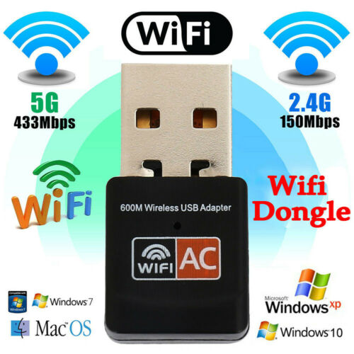 600Mbps Dual Band <font><b>USB</b></font> WiFi Dongle Wireless LAN Network <font><b>Adapter</b></font> <font><b>802.11ac</b></font>/a/b 5/2.4Ghz <font><b>USB</b></font> 2.0 Dual-Band WiFi <font><b>Adapter</b></font> 3D11 image