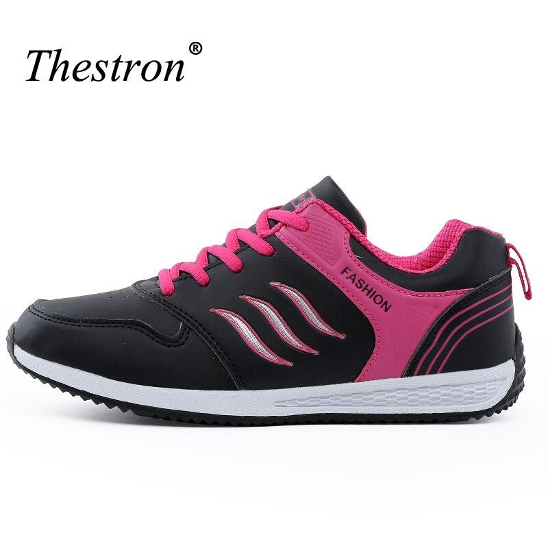 2018 chaussures de course pour femmes noir blanc dames Jogging baskets femmes légères baskets athlétiques anti-dérapant Sport chaussures filles