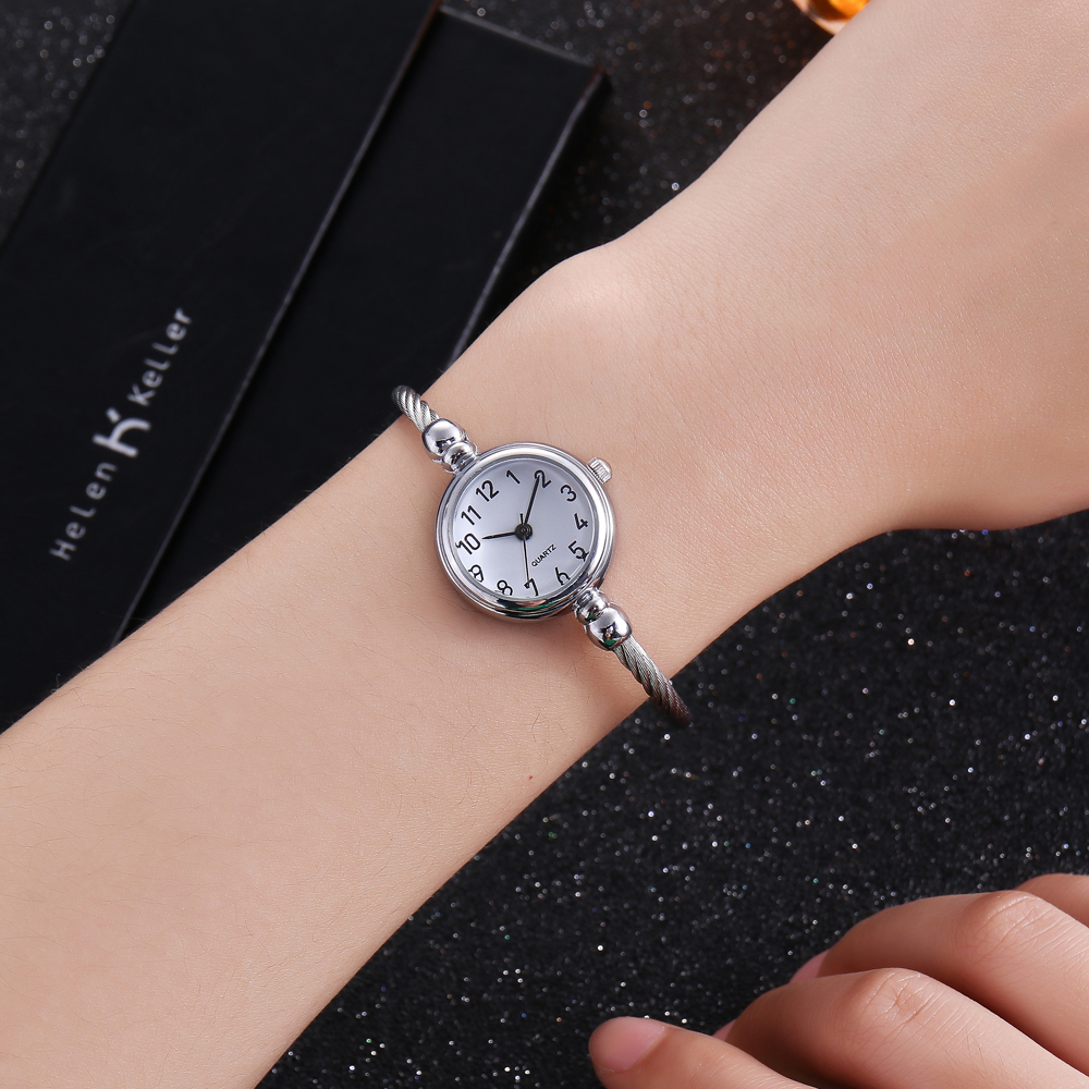2018 Trend Rose Gold Women Watch Luxury Fashion Alloy Steel Band - Damklockor