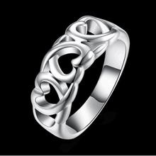 Fashion Popular Closed 925 Silver Ring Girls Silver Jewelry Gift Decorations JZ44