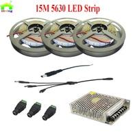 15M DC12V 5630 5730 Warm White No Waterproof Indoor LED Strip Light Flexible Diode Tape LED