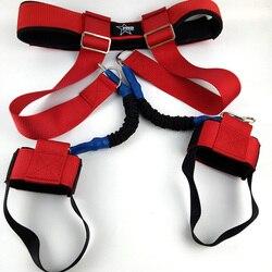 Entrenador de tenis equilibrio ajustable cuerda de resistencia de rebote elástico cuerda de saltar equipo de adiestramiento al aire libre hombres mujeres