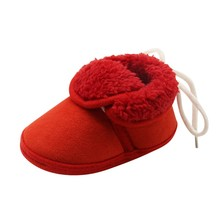 2017 New Plus Cashmere Warm And Elastic Straps With Soft Leather Baby Shoes Warm Boys Girls Shoes Lovely Gift For Kids