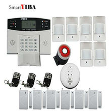 SmartYIBA GSM SMS Home Burglar Security Alarm System Russian French Spanish Cezch Italian Voice Wireless Siren Alarm Kit