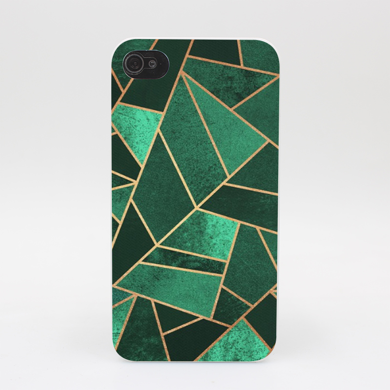 171GS Emerald And Copper Lines Rugs Hard White Case Cover for iPhone 4 4s 5 5s 5c SE 6 6s Plus Print