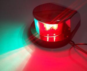 Image 5 - 바이 컬러 레드 그린 led 네비게이션 라이트 12 v 해양 보트 요트 스테인레스 스틸 보우 세일링 신호 램프