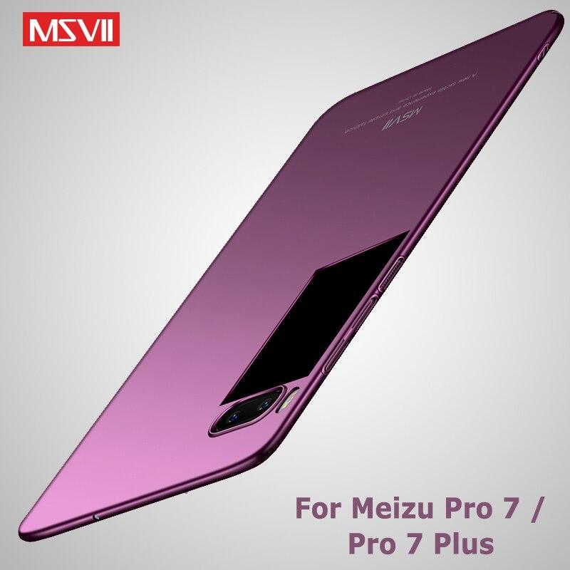 Meizu Pro 7 case Original Msvii Brand luxury Silm meizu 7 pro case meizu pro 7 plus hard PC scrub Back cover For Meizu pro7 case