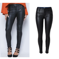 Sherhure jeans Women Black Pu Leather Pants Pantalon Femme Women Fitness Leggings Low Waist Women Skinny Pencil Pants