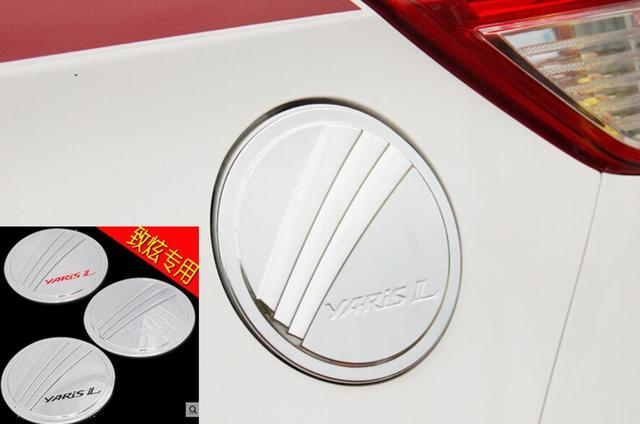 Auto chrome accessories,oil tank cover trim for Toyota Yaris 2014 2015,free shipping
