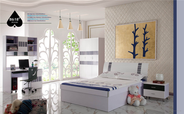 High gloss lacquer design bedroom furniture for kids 0429 B618in