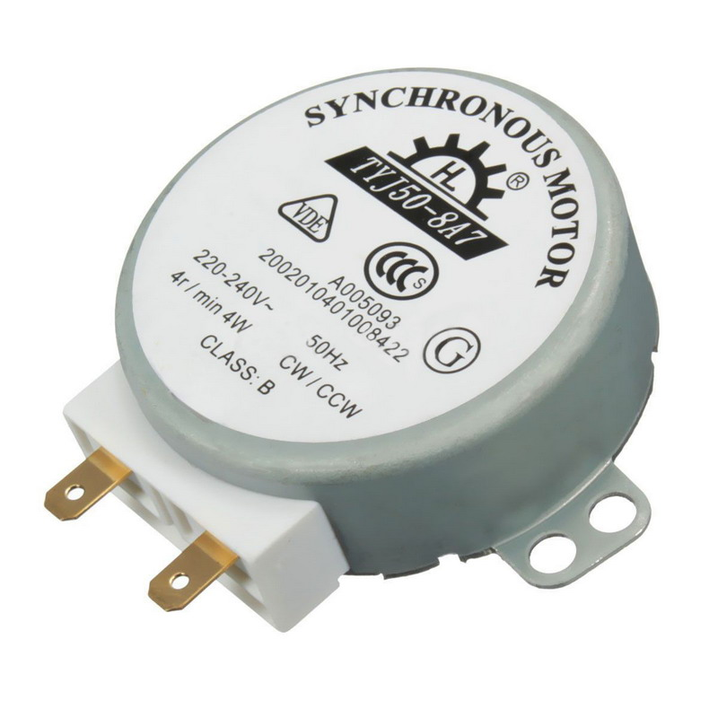 1 Piece AC 220V-240V 50Hz CW/CCW Microwave Turntable Turn Table Synchronous Motor TYJ50-8A7 D Shaft 4 <font><b>RPM</b></font> image