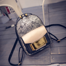 2017 New Snake PU Leather Women Backpack Female Fashion Rucksack Brand Designer Ladies Back Bag High