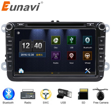 Eunavi 2 DIn Car DVD 8′ HD For  VW POLO GTI GOLF 5 6 MK5 MK6 JETTA PASSAT B6 Touran Sharan With GPS Navigation Radio RDS