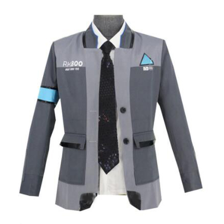Become Human Hoodie Hooded Sweater Connor RK800 Zipper Coat Cosplay Detroit