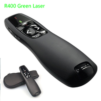 Logitech Wireless Presenter R400 Bright 5MW Green Laser Pointer Remote Control UP to 50 foot Range Not Included Battery   -