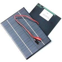 Solar Panel 4.2W 18V Solar Cell Polycrystalline Solar Panel Crocodile Clip For Charging 12V Battery 200x130x3mm black