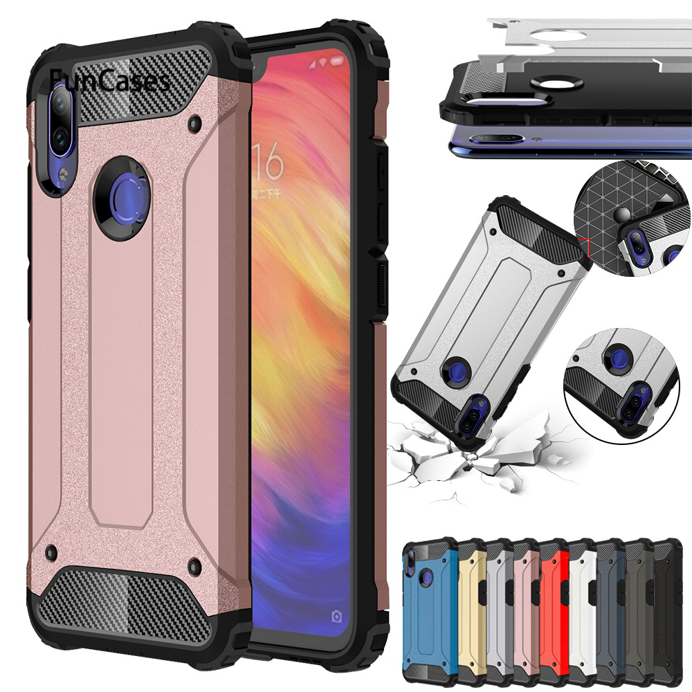 For Redmi Note 7 Case Luxury Armor Cover For Redmi Note 7 6 5 Pro 6A 5A 4X S2 F1GO Coque For Xiaomi 9 9SE 8 8SE Lite Pro <font><b>Max</b></font> <font><b>2</b></font> 3 image