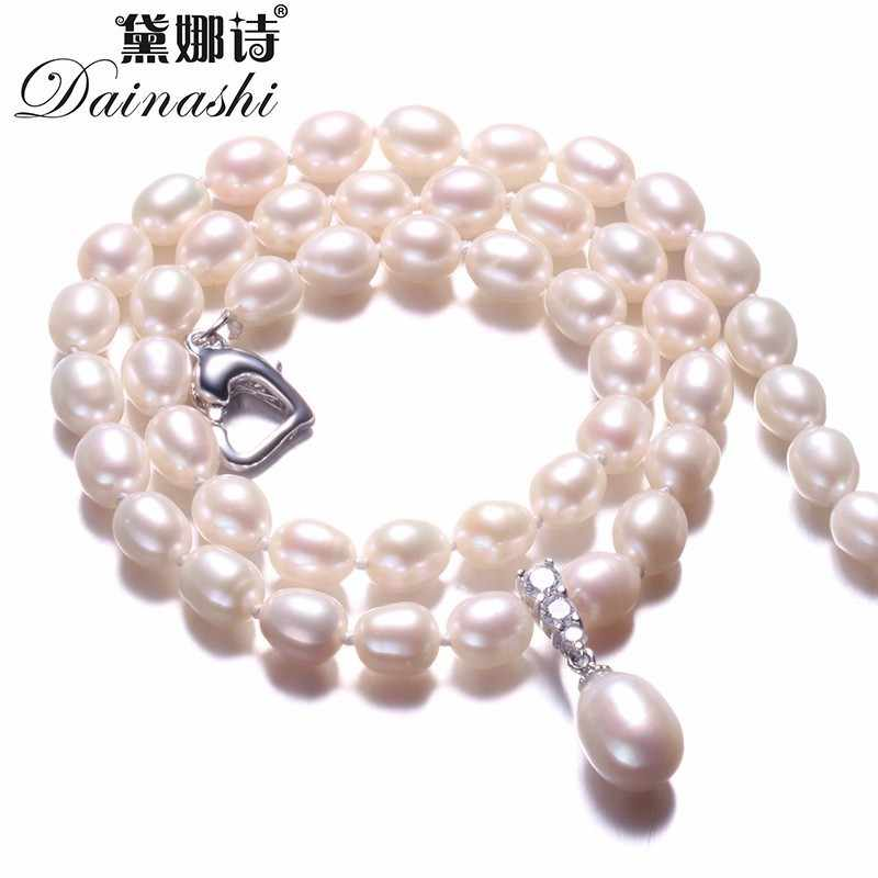 Amazing Price Beautiful Pearl Jewelry Necklace,High Quality Natural Freshwater Pearl Beads Fine Jewelry,White/Pink/Purple