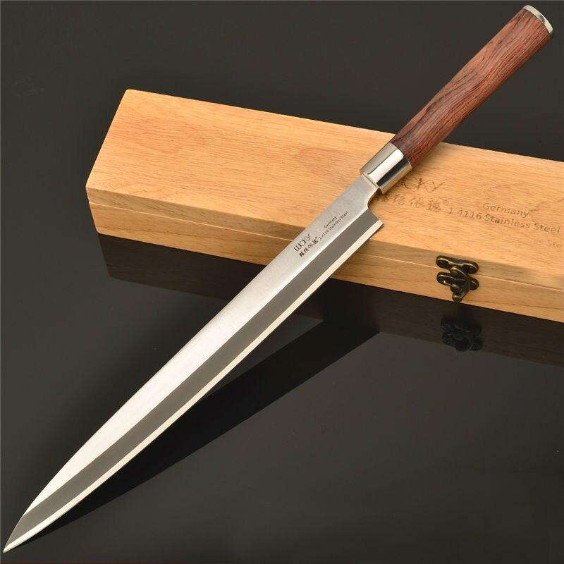 kitchen sushi knife slicer cutter japanese knife germany steel salmon knife l. Black Bedroom Furniture Sets. Home Design Ideas