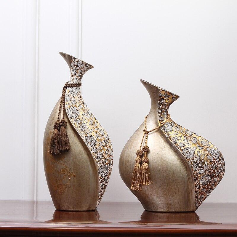 Creativo stile Europeo vaso di Ceramica Decorazioni Per La Casa Retrò bocca Piccola Artigianato disposizione dei Fiori decorazione di cerimonia nuziale-in Vasi da Casa e giardino su  Gruppo 1