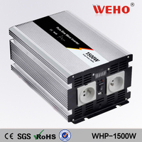 (WHP-1500-122)1500w pure sine wave power inverter 12vdc input to 220/230vac ouput
