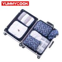 6 stks/set Reizen Opbergzakken Schoenen Kleding Draagbare bagage Organizer Toilettas Pouch Kits Groothandel Accessoires Levert Stuff