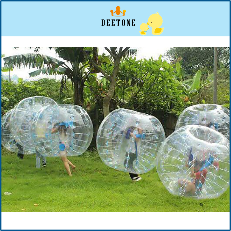 DEETONE Air Bubble Soccer 0.8mm TPU 1.2m 1.5m 1.8M Air Bumper Ball Adult Inflatable Bubble Football Bubble Soccer Zorb Ball