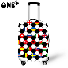 ONE2 European Cup Printing custom Cover Apply to 22,24,26 Inch Suitcase fashion polyester Luggage cover free shipping