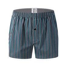 Боксеры мужские хлопковые свободного покроя, нижнее белье, шорты, Классическая клетчатая одежда для сна, повседневные, 11