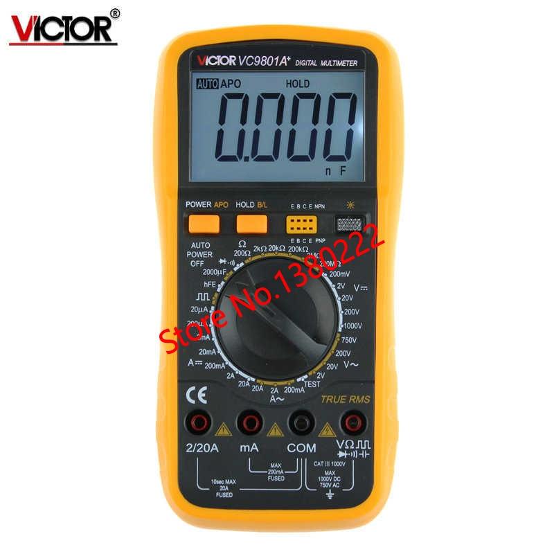 ФОТО Digits Multimeter  2000 Counts Victor VC9801A+ AC DC Voltmeter Capacitance Resistance digital Ammeter Multitester