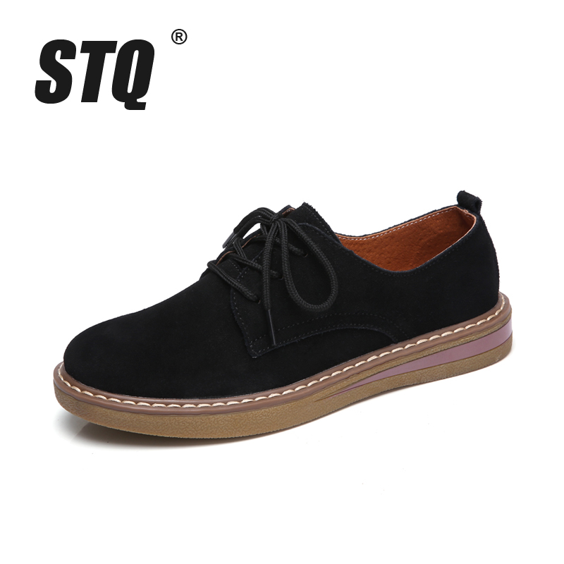 Fashion designer women sneakers oxford shoes flats shoes women leather suede lace up boat shoes round toe flats 1