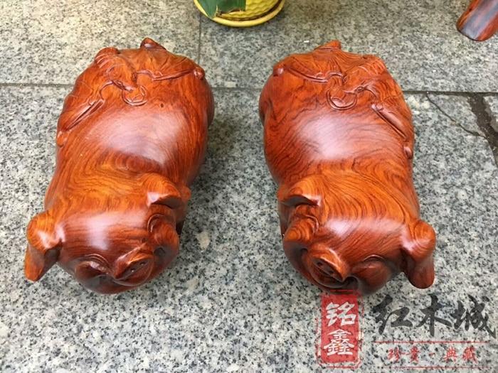 Redwood бирманский палисандр повезло резьба по дереву Пятачок подарок фэн шуй дома новоселье гостиная украшения офиса