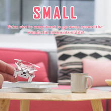 Cheerson CX-10WD-TX Mini FPV Drone with 0.3MP Camera 2.4G 6-Axis Gyro RC Quadcopter Mini Rc Airplane for Kids Gift Red Gray Gold