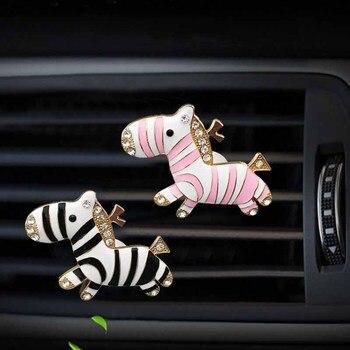 Adornos para coche, encantadores muñecos de cebra, ambientador, difusor de Perfume, juguete, decoración Interior para salpicadero de automóvil, accesorios para coche