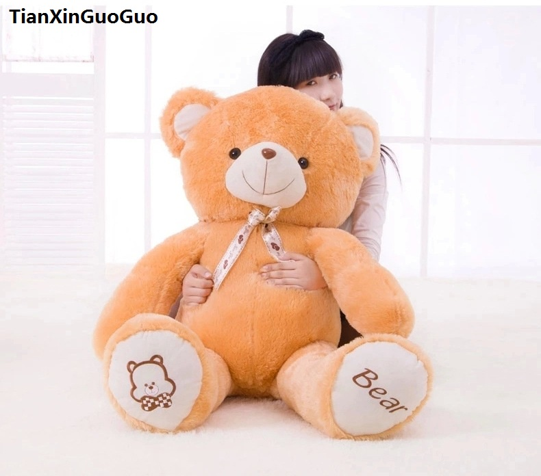 stuffed plush toy teddy bear large 120cm orange bear doll soft throw pillow,Christmas gift h0644 stuffed animal plush 80cm jungle giraffe plush toy soft doll throw pillow gift w2912