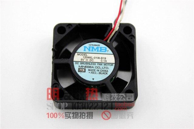 Original 1204KL-01W-B19 3CM -MAT 3010 5V0.1A 3 wire small cooling fan