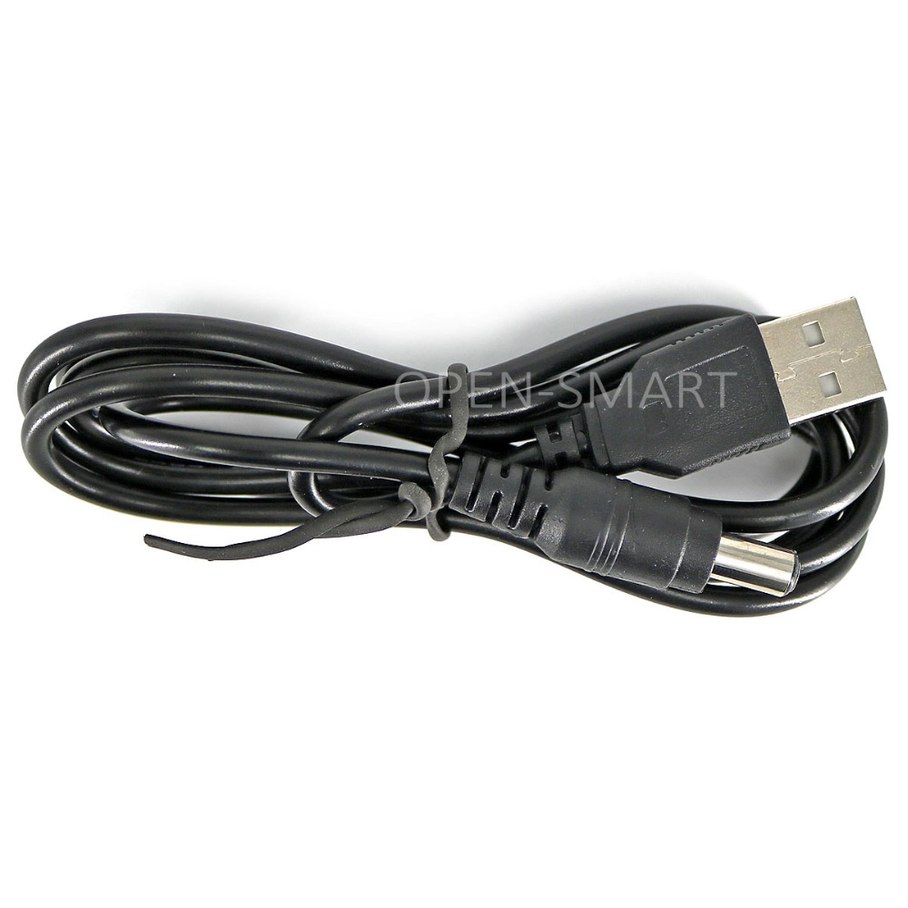 5V Type A Male USB To DC Jack 5.5 * 2.1mm 5V Cable USB 5V To 5V DC Jack Adapter Cable Great For Arduino / Breadboard