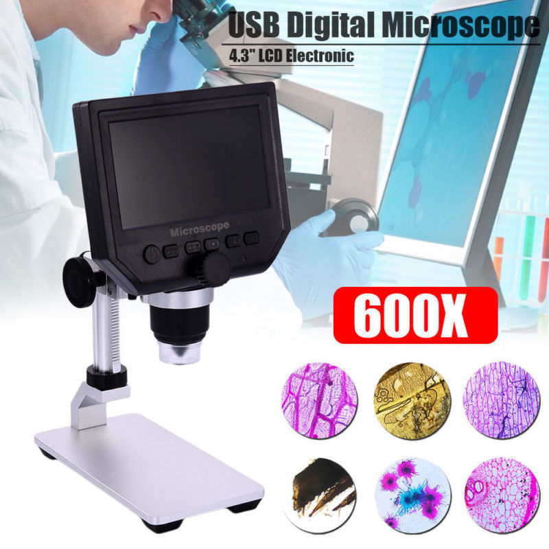 600X 4.3 LCD 3.6MP Electronic Digital Video Microscope soldering microscope Mobile Phone Repair Magnifier600X 4.3 LCD 3.6MP Electronic Digital Video Microscope soldering microscope Mobile Phone Repair Magnifier
