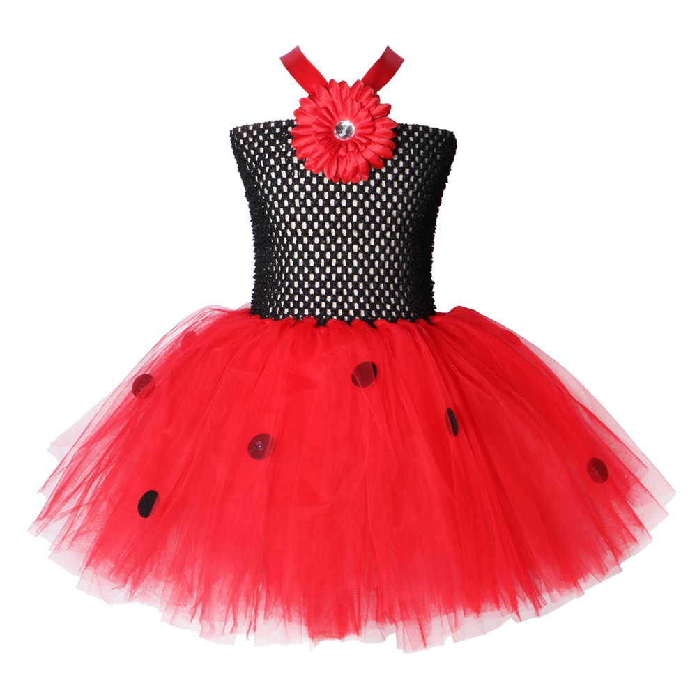 lady bug flower girl dress