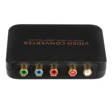 1080 P HDMI к 5RCA RGB YPBPR Scaler Компонентного Видео Аудио Конвертер Для SKY HDTV