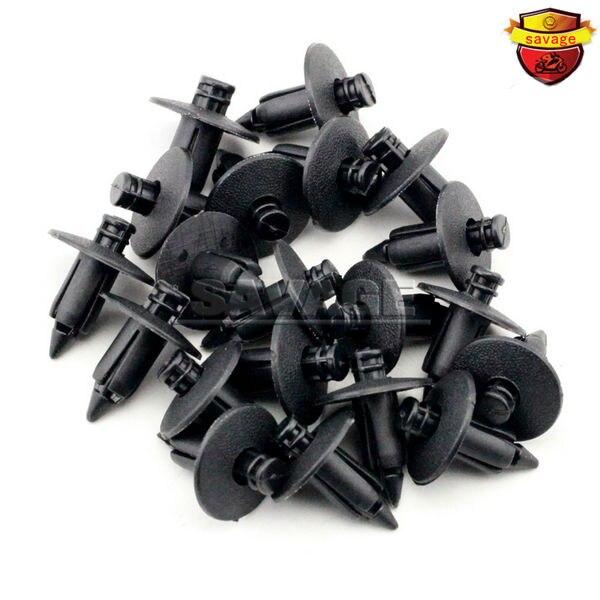 20 unids 7mm atv accesorios de motos carenado nylon remaches sujetadores de clip