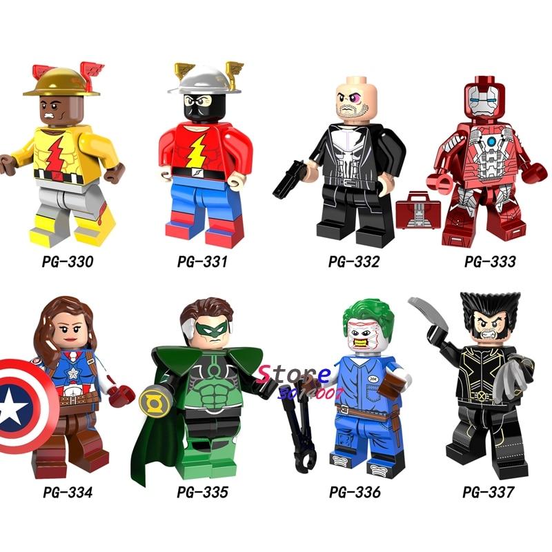 50pcs Hero Reverse Flash Female Captain America Punisher Iron Man Mendez Parallax Joe Wolverine Building Blocks Toys For Boys Pleasant In After-Taste Toys & Hobbies Model Building