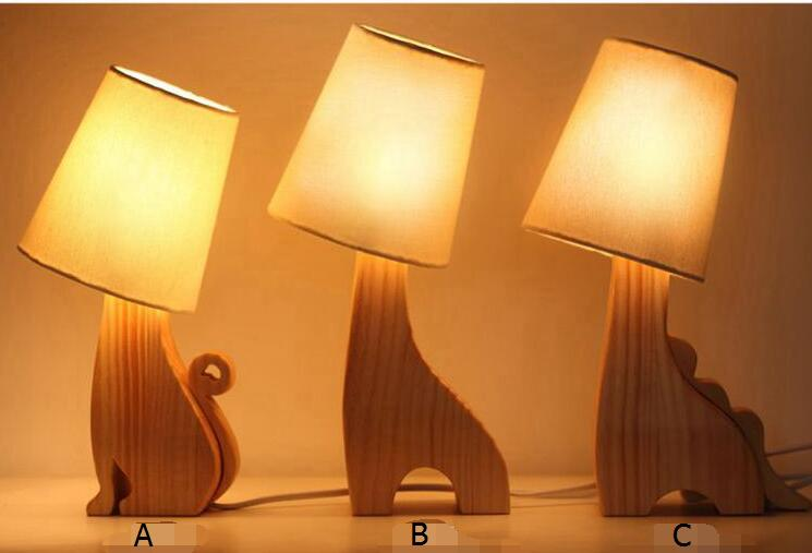 цена на children room wood table lamps girlfriend girls creative birthday gifts Christmas Valentine's Day desk lamps ZA920557