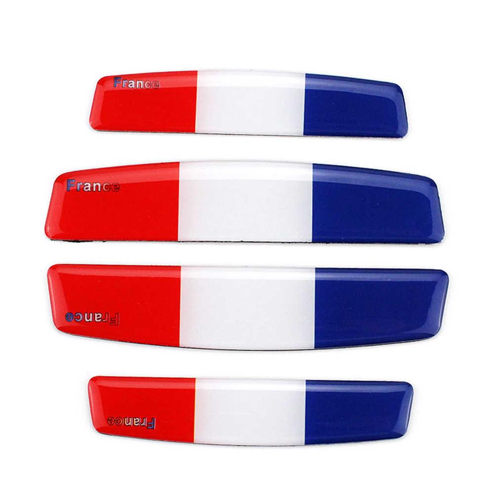 Porta do carro de proteção borda adesivo adesivos tira decalques frança bandeira para renault clio captur citroen c3 peugeot 208 308 2008 vw polo