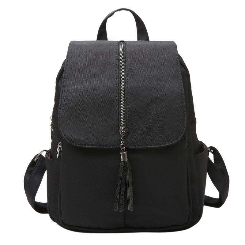 Women's Backpack Travel Zipper Tassel Women Nylon Backpack Rucksack Teenage Backpacks For Girls School Bags Mochilas  Feminina