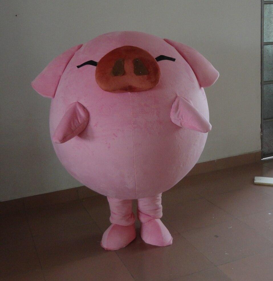 สีชมพูหมูมิ่งขวัญเครื่องแต่งกายการ์ตูน