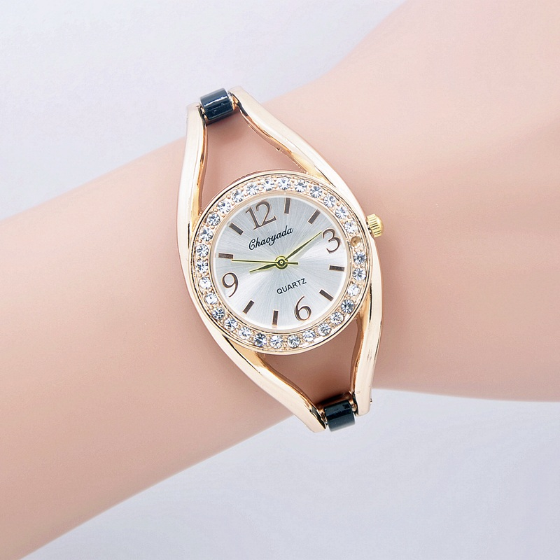 2017 New Fashion Chaoyada Ladies Elegant Bracelet Watch Luxury Gold Stainless Steel Quartz Watch reloj hombre Women Dress Watch chaoyada diamond quartz watch steel plastic band for women
