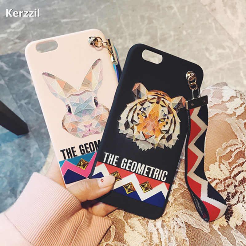 Tiger Wrist Strap Tassel Phone Cases